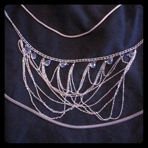 Jewelry - Silver long chain necklace